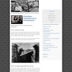 Historique technique de la photographie