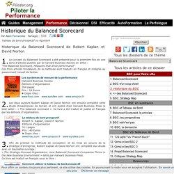 Historique du Balanced Scorecard de Robert Kaplan et David Norton Tableau de bord prospectif Tableau de bord équilibré
