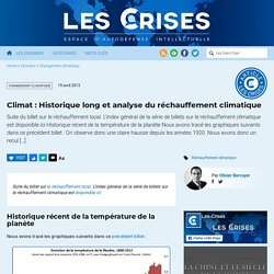 » 1345 Climat (8) : Historique long et analyse du réchauffement climatique