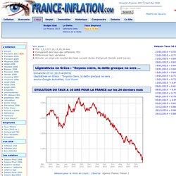 HISTORIQUE TAUX DE REFERENCE OAT 10 ans FRANCE et EUROPE dont GRECE, EMPRUNT A TAUX FIXE
