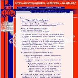 054- Historique du 54ème Régiment d'Artillerie de Campagne