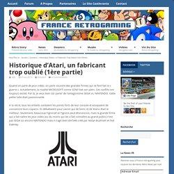 Historique d'Atari, un fabricant trop oublié (1ère partie)
