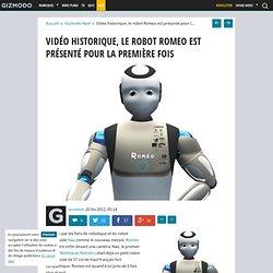 Historique, le robot Romeo est présenté en vidéo