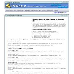 Historique taux de TVA