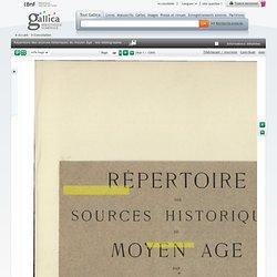 Répertoire des sources historiques du moyen âge : bio-bibliographie. Vol. 2, J-Z / par Ulysse Chevalier