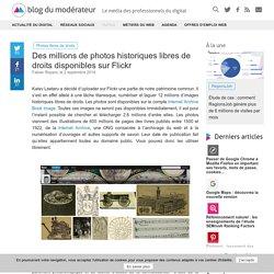 Des millions de photos historiques libres de droits disponibles sur Flickr