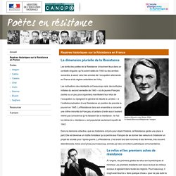 Repères historiques sur la Résistance en France-Poètes en résistance-Centre National de Documentation Pédagogique