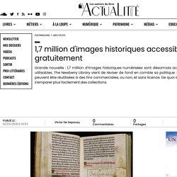 1,7 million d'images historiques accessibles gratuitement