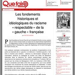 Les fondements historiques et idéologiques du racisme « respectable » de la « gauche » française - Revue Que Faire ?