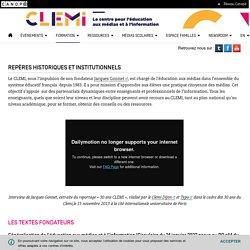 Repères historiques et institutionnels- CLEMI