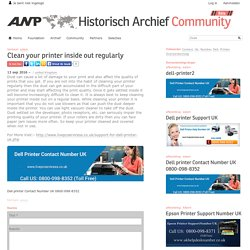 ANP Historisch Archief Community - Clean your printer inside out regularly
