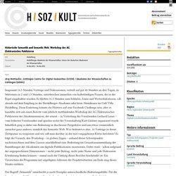 Historische Semantik und Semantic Web. Workshop der AG Elektronisches Publizieren