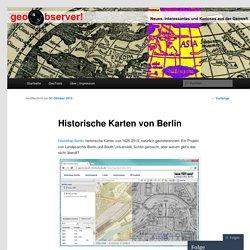 Historische Karten von Berlin