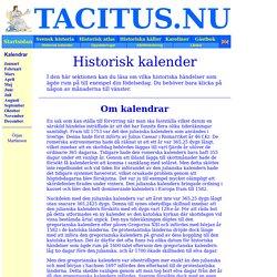 Historisk kalender