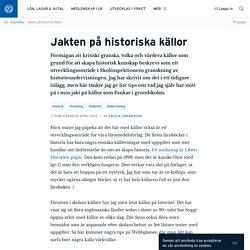 Jakten på historiska källor · Cecilia Johansson