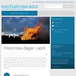 Historiska dagar i april