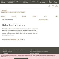 Kurser hösten 2011: Historiska institutionen