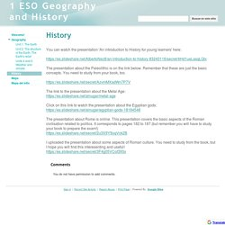 History - 1 ESO Geography and History