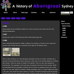 A History of Aboriginal Sydney