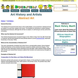 History: Abstract Art for Kids