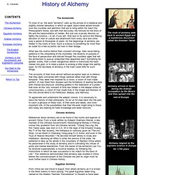 History of Alchemy from Ancient Egypt to Modern Times.