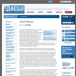 ACLU & civil liberties timeline