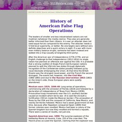 History of American false flag operations