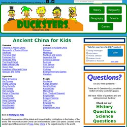 History: Ancient China for Kids