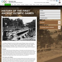 History - Ancient Olympics - First Olympic Games History from Olympia