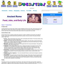 History of Ancient Rome for Kids: Roman Food, Jobs, Daily Life