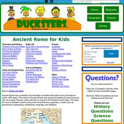 Ducksters: Ancient Rome for Kids