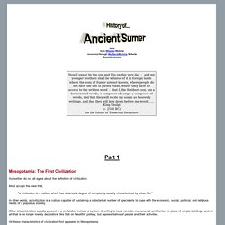 History of Ancient Sumer