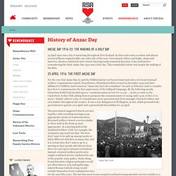 History of Anzac Day