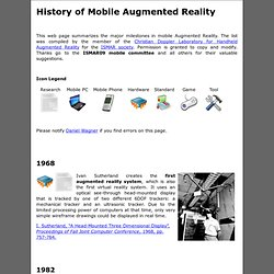History of Mobile Augmented Reality