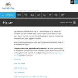 History – Australia Day
