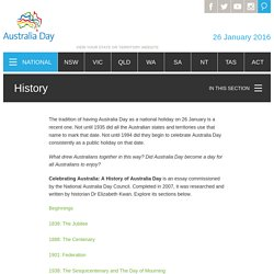History ‐ Australia Day