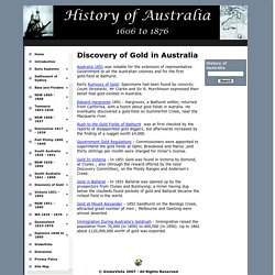 History of Australia Online - Discovery of Gold in Australia