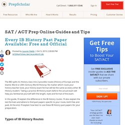 Every IB History Past Paper Available: Free and Official