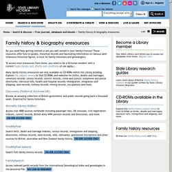 Family history & biography eresources
