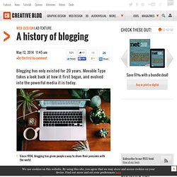 A history of blogging