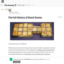 The Full History of Board Games – The Startup – Medium