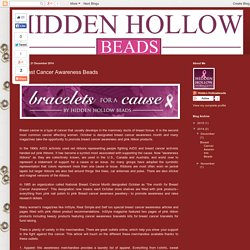 History of Breast Cancer Awareness: Breast Cancer Awareness Beads
