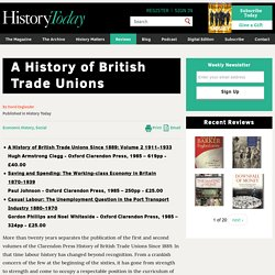 A History of British Trade Unions