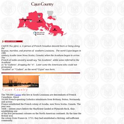 History of Cajun Country