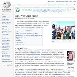 History of Cajun music