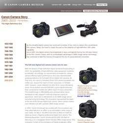 History Hall - Canon Camera Story 2005-2010