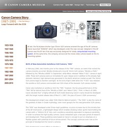 History Hall - Canon Camera Story 1987-1991