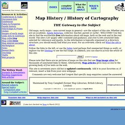 Map History / History of Cartography - WWW-Virtual Library