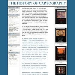 History of Cartography: Volumes One and Two