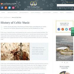 History of Celtic Music - Celtic Rings Ltd
